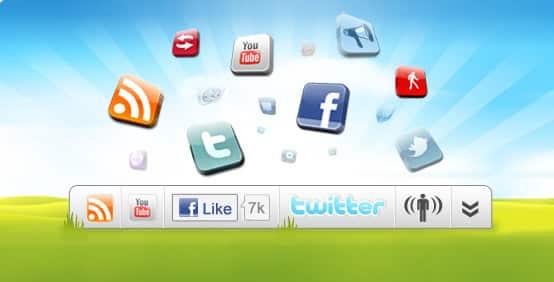 barra ferramentas wibiya toolbar compartilhamento engajamento